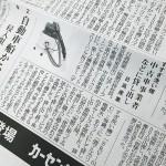 「日刊自動車新聞」 シートクリーニング用リンサーSRV-01Cが紹介されました